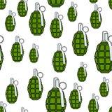 Military grenade pattern Stock Photos