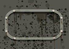 Military grunge. Background drawn in military grunge style with rust and corrosion Stock Photo
