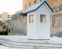 Military guardhouse in Athens, Greece. Guardhouse of the  Evzones presidential ceremonial guards in Athens , Greece Royalty Free Stock Photo