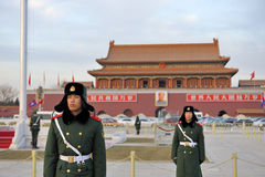 Military guards stand guard Stock Photos