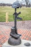 Military Gun, Boots, Hat Statue stock image