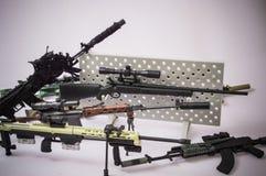 Military gun sniper toy  white background Royalty Free Stock Photos