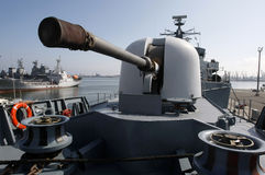 Military gun turret Stock Image