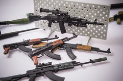 Military gun toy backgrounds Royalty Free Stock Image