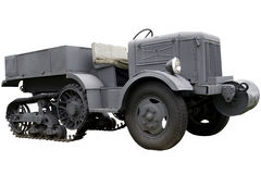 Military half-tracked prime mover Royalty Free Stock Photo