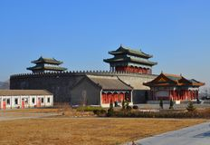 Military Hall in Round City in Qing dynasty Royalty Free Stock Image