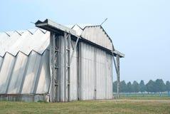 Military hangar Stock Image