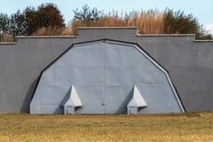 Military Hangar for aircraft Royalty Free Stock Photos