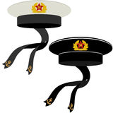 Military headgear Soviet Navy Stock Images