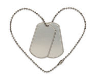 Military Heart Dog Tags Stock Image