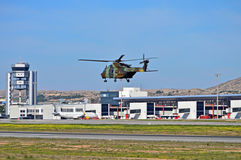 Military Helecopter At Alicante Airport Royalty Free Stock Photography