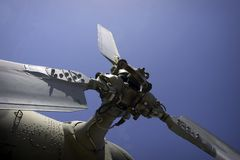 Military helicopter. Details of military helicopter Stock Photography