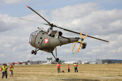 The military helicopter on 13 WCH Royalty Free Stock Photography