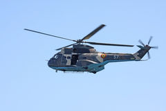 Military helicopter. In exercise fly Royalty Free Stock Photo