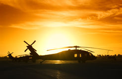 Military helicopter Royalty Free Stock Photography
