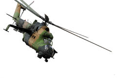 Military helicopter in action Stock Image