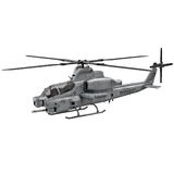 Military helicopter Bell AH 1Z Viper isolated on white 3D Illustration Stock Photo