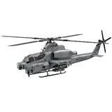 Military helicopter Bell AH 1Z Viper isolated on white 3D Illustration Royalty Free Stock Photos
