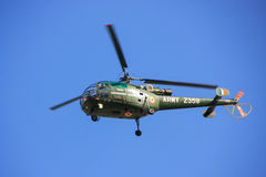 Military helicopter in blue sky, Jaipur, Rajasthan, India Royalty Free Stock Image