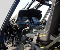 Military helicopter cockpit Stock Photography