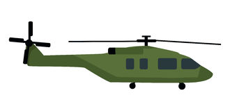 Military Helicopter Flat Style Vector Icon Royalty Free Stock Image
