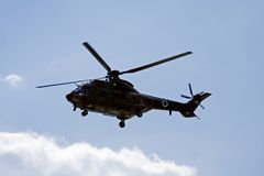 Military helicopter in flight Royalty Free Stock Images