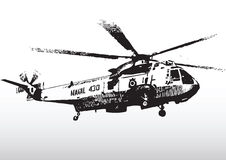 Military helicopter in flight Stock Photography