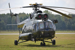 Military, helicopter. Military helicopters standing on a ground Stock Photo