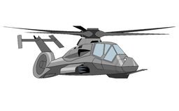 Military helicopter illustration Stock Photo