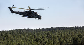 Military helicopter Mi-24 (Hind) Stock Photography