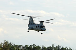 Military helicopter on a mission Royalty Free Stock Photo