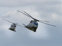 Military helicopter pair Stock Photography