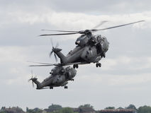 Military helicopter pair Royalty Free Stock Photography