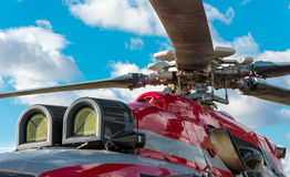 Military helicopter rotor blade detail Stock Images