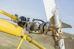 Military helicopter rotor blade detail close up Royalty Free Stock Images