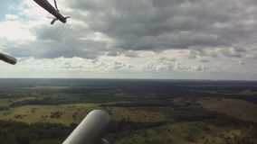 Military helicopter in sky stock footage