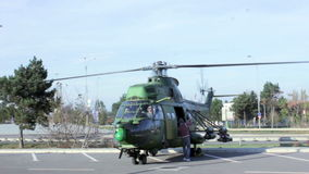 Military helicopter stock video footage