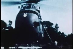 Military helicopter taking off stock video