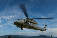 Military helicopter UH-60 Black Hawk realistic 3d render Royalty Free Stock Photo