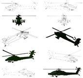 Military Helicopter Vector 02 Royalty Free Stock Image