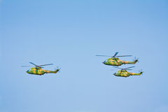 Military helicopters group Stock Photography