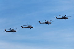 Military helicopters Royalty Free Stock Photography