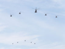 Military helicopters, the Russian Air Force Royalty Free Stock Photography