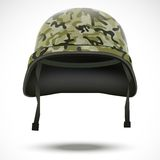 Military helmet with camo pattern vector Stock Images