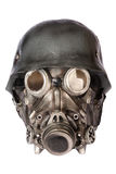 Military Helmet with Goggles and Gas Mask Royalty Free Stock Photography