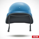 Military helmet of United Nations vector Royalty Free Stock Photo