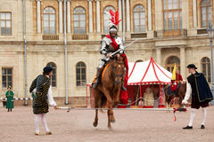 Military historical festival Gatchinskaya Byl Stock Image