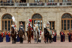 Military historical festival Gatchinskaya Byl Stock Photos