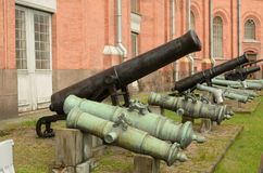 Military-historical Museum of artillery. Royalty Free Stock Photos