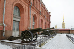 Military-historical Museum of artillery. Royalty Free Stock Photo